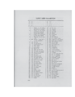 Lijst der kaarten